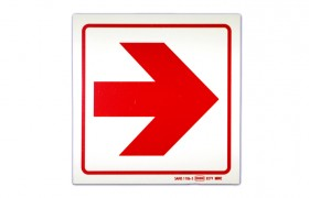 SAFETY SIGNGE - RIGHT ARROW